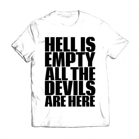 "Футболка мужская ""Hell Is Empty"""