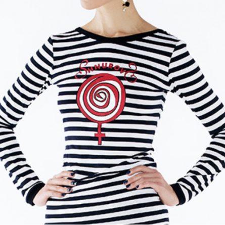 Тельняшка женская с символом Венеры от Сергея Шнурова