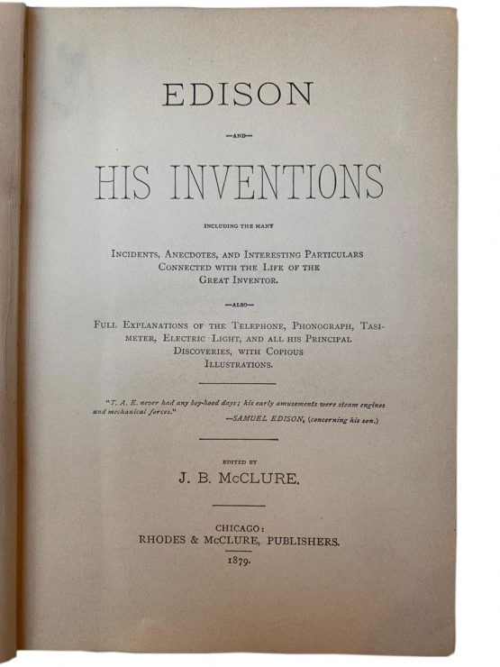 Edison and his iventoins, 1879г.