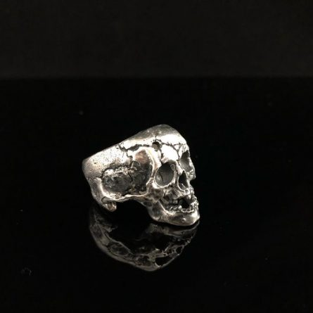 Заполнитель Кольцо череп с пулевым отверстием, с нижней челюстью