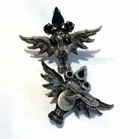 запонки грифоны серебро