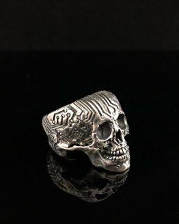 Кольцо череп микросхема, с нижней челюстью