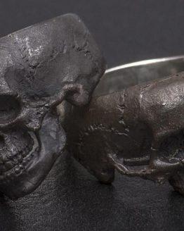 Кольцо с маленьким черепом (женское) без нижней челюсти