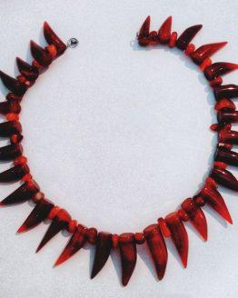 Индейское ожерелье в стиле «Волчьи зубы»
